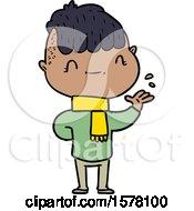 Cartoon Friendly Boy