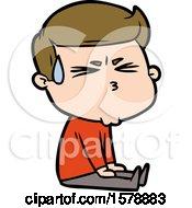 Cartoon Man Sweating