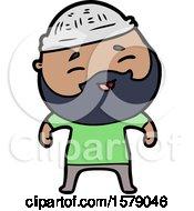 Cartoon Happy Bearded Man