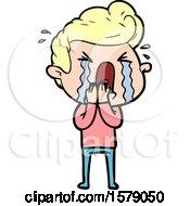 Cartoon Crying Man