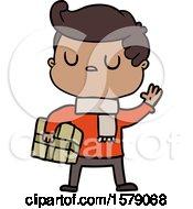 Cartoon Aloof Man