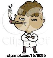 Poster, Art Print Of Cartoon Man Smoking