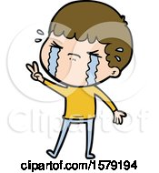 Cartoon Man Crying