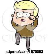 Cartoon Tired Man