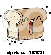 Cartoon Laughing Loaf Of Bread