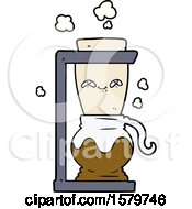 Happy Cartoon Coffee Pot