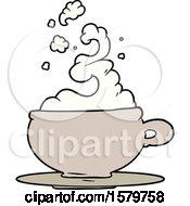 Poster, Art Print Of Hot Cup Of Tea Cartoon