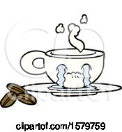 Poster, Art Print Of Cartoon Crying Espresso Mug