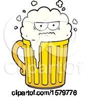 Poster, Art Print Of Cartoon Mug Of Beer