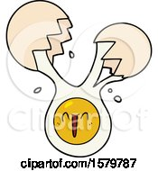 Cracked Egg Cartoon