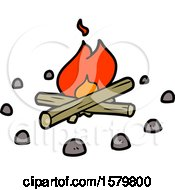 Poster, Art Print Of Cartoon Campfire