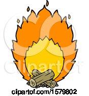 Poster, Art Print Of Cartoon Blazing Camp Fire