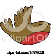 Cartoon Flying Robin