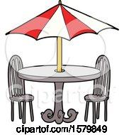Cartoon Cafe Table