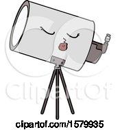 Poster, Art Print Of Cartoon Telescope With Face