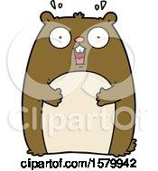 Cartoon Shocked Ground Hog