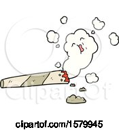 Poster, Art Print Of Cartoon Smoking Cigarette