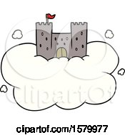 Cartoon Castle In Sky