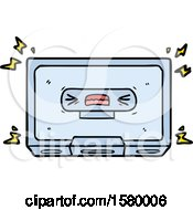 Cartoon Angry Old Cassette Tape
