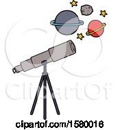 Poster, Art Print Of Cartoon Telescope