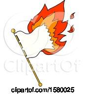 Cartoon Burning Flag