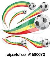Poster, Art Print Of 3d Soccer Balls And Senegal Flags