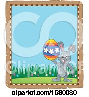 Poster, Art Print Of Parchment Border Of An Easter Bunny