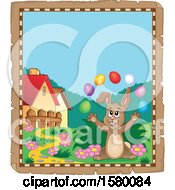 Parchment Border Of An Easter Bunny
