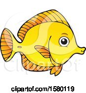 Cute Yellow Tang Fish