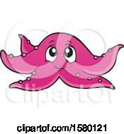 Clipart Of A Cute Starfish Royalty Free Vector Illustration