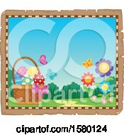 Poster, Art Print Of Parchment Boder Of Easter Eggs