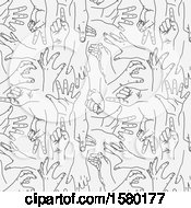 Background Of Sketched Hands