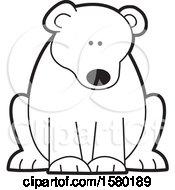 Poster, Art Print Of Black And White Sitting Bear