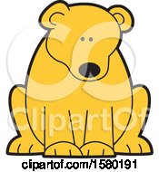 Clipart Of A Cute Sitting Bear Royalty Free Vector Illustration by Johnny Sajem