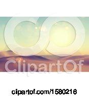 Clipart Of A 3d Desert Landscape Royalty Free Illustration by KJ Pargeter