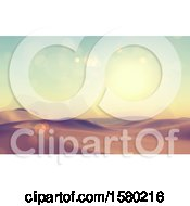 Clipart Of A 3d Desert Landscape Royalty Free Illustration