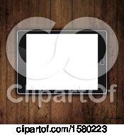 3d Tablet On A Wood Desk