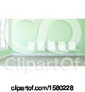 Clipart Of A 3d Lobby Room Interior Royalty Free Illustration