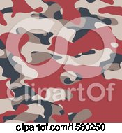 Clipart Of A Camouflage Background Royalty Free Vector Illustration