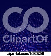 Clipart Of A Halftone Dot Background Royalty Free Vector Illustration