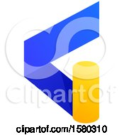 Clipart Of A Letter G Crypto Currency Design Royalty Free Vector Illustration by elena
