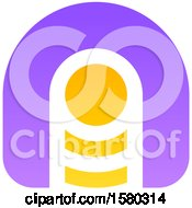 Clipart Of A Letter A Crypto Currency Design Royalty Free Vector Illustration by elena