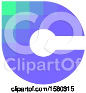Clipart Of A Letter C Crypto Currency Design Royalty Free Vector Illustration by elena