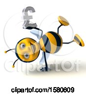 Poster, Art Print Of 3d Male Bee Holding A Pound Currency Symbol On A White Background