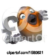 Poster, Art Print Of 3d Robin Bird Holding A Pound Currency Symbol On A White Background