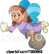 Clipart Of A Tooth Fairy Flying Royalty Free Vector Illustration by visekart
