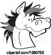 Poster, Art Print Of Black And White Horse Mascot
