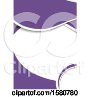 Clipart Of A Purple And White Background Royalty Free Vector Illustration