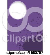 Clipart Of A Purple Splatter Background Royalty Free Vector Illustration