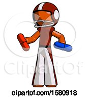 Orange Football Player Man Red Pill Or Blue Pill Concept